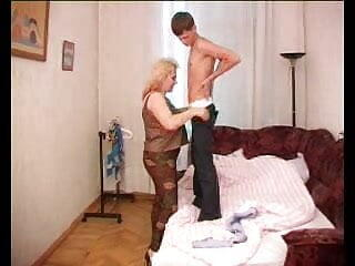 Mature Mom with Huge Tits Rides College Stud Cock - alp43