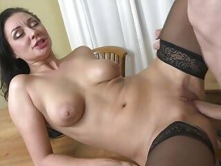 Moms fucked in all holes by dirty sons